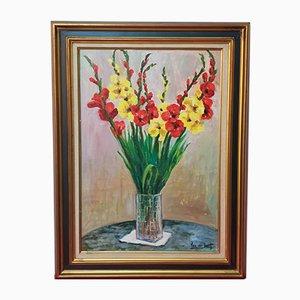 Vintage Oil Painting by Amanda Van der Voort