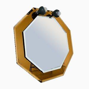 Specchio dorato fumé, anni '70