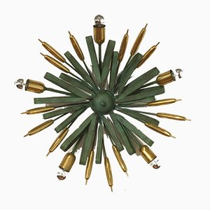Italian Bronze Wall Lamp from C.S. Arte Firenze, 1970s