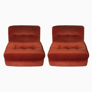 Lounge Chairs by Mario Bellini for B&B Italia / C&B Italia, 1973, Set of 2