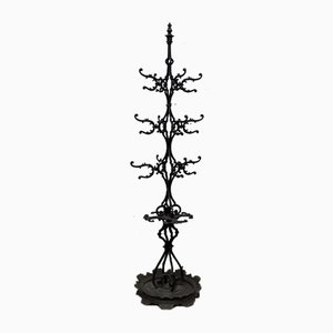 Antique Cast Iron Coat Rack with Umbrella Stand