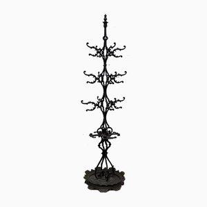 Antique Cast Iron Coat Rack with Umbrella Stand