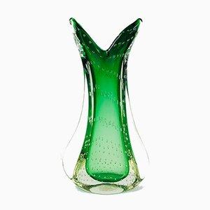 Vase Vintage en Verre de Murano Bullicante par Archimede Seguso, Italie