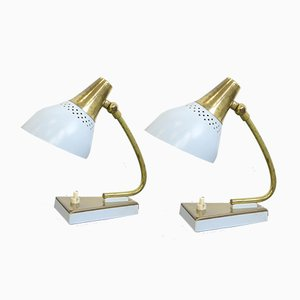 Lampes de Bureau de Stilnovo, Italie, 1950s, Set de 2