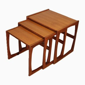 Vintage Teak Nesting Tables by Victor Wilkins for G-Plan, 1960s