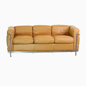 Leather 3-Seater Model LC2 Sofa by Le Corbusier for Cassina, 2000s