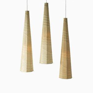 Deckenlampen aus Metall & Harz von Hans Bergström für Ateljé Lyktan, 1950er, 3er Set