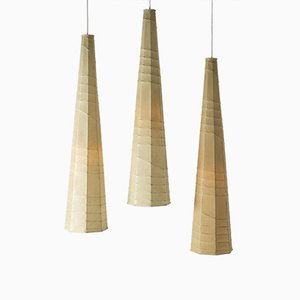 Metal and Resin Ceiling Lamps by Hans Bergström for Ateljé Lyktan, 1950s, Set of 3