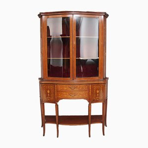 19th Century Inlaid Mahogany Display Cabinet