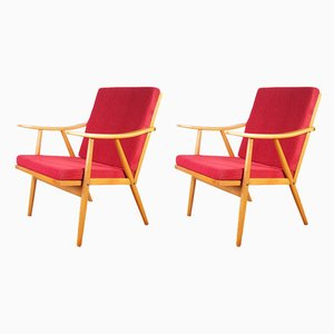 Czechoslovakian Lounge Chairs from TON, 1960s, Set of 2