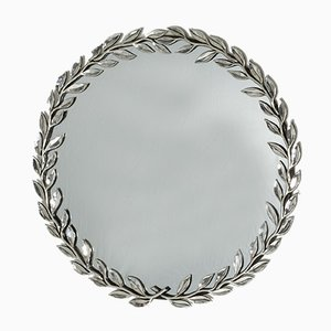 Silver Plated Mirror by Estrid Ericson for Svenskt Tenn, 1950s