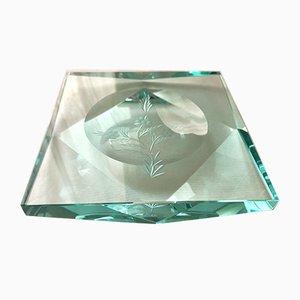 Aschenbecher aus Kristallglas von Pietro Chiesa für Fontana Arte, 1950er