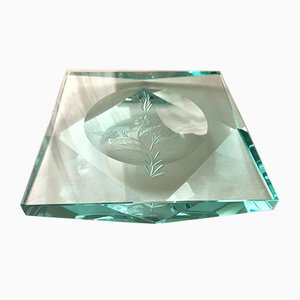 Crystal Ashtray by Pietro Chiesa for Fontana Arte, 1950s