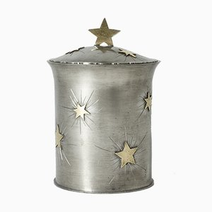 Swedish Brass Pewter Jar from Sjöbecks Guldsmedsaffär, 1938