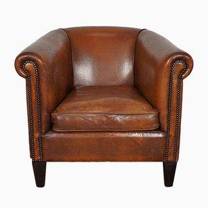 Vintage Dutch Cognac-Colored Leather Club Chair