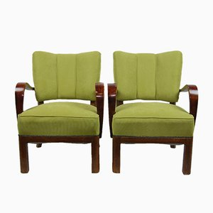 Armchairs by Jindřich Halabala, 1930s, Set of 2
