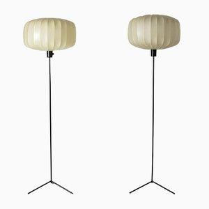 Stehlampen aus lackiertem Metall & Harz von Hans Bergström für Ateljé Lyktan, 1950er, 2er Set