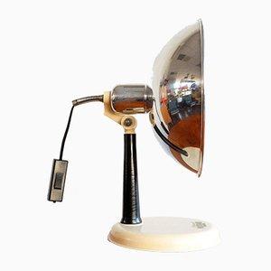 Lámpara de mesa austriaca industrial de Profundus Original, años 50
