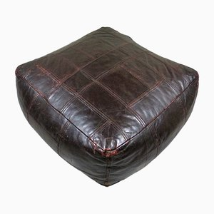 Dark Brown Leather Ottoman from de Sede, 1970s