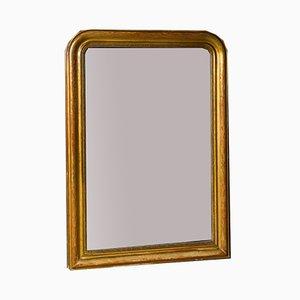 Französischer Spiegel mit vergoldetem Rahmen, 1940er