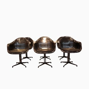 Fiberglass Dining Chairs by Charles & Ray Eames for Herman Miller, 1970s, Set of 6