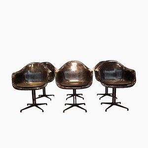 Sedie da pranzo in fibra di vetro di Charles & Ray Eames per Herman Miller, anni '70, set di 6