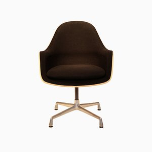 Hopsack and Fiberglass Swivel Chair by Charles & Ray Eames for Vitra, 1970s