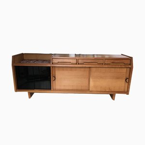 Oak Sideboard by Guillerme et Chambron for Votre Maison, 1960s