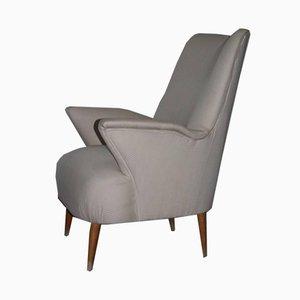 Minimalist Italian Armchair, 1950s