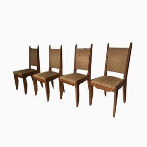 Esszimmerstühle aus Eiche von Guillerme et Chambron für Votre Maison, 1960er, 4er Set