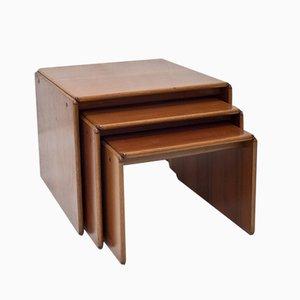 Tavolini ad incastro Mid-Century di Tobia & Afra Scarpa per Stildomus