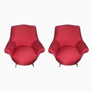 Italienische Mid-Century Sessel von Arredamenti ISA, 1950er, 2er Set
