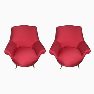 Mid-Century Italian Armchairs from Arredamenti ISA, 1950s, Set of 2