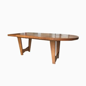 Extendable Oak Dining Table by Guillerme et Chambron for Votre Maison, 1960s