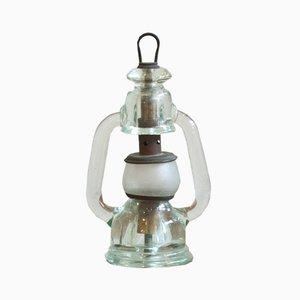 Lámpara de mesa vintage de cristal de Murano de Archimede Seguso para Seguso, años 30