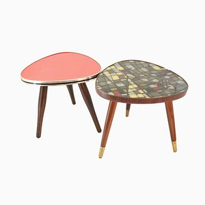 Mid-Century German Side Tables, 1950s, Set of 2