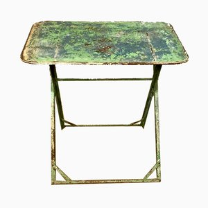 French Folding Garden Table, 1920s