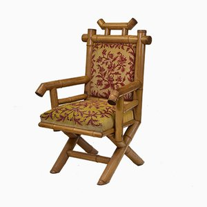 Antique Bamboo Armchair, 1870s