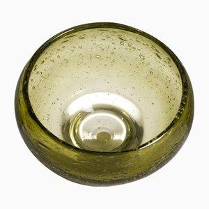Grüne Mid-Century Glasschale