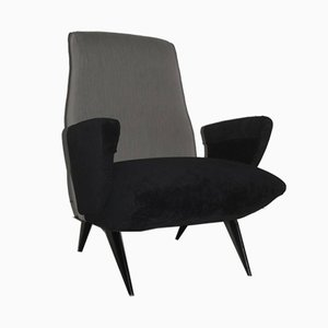 Italian Grey and Black Armchair by Nino Zoncada for Framar, 1950s