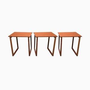 Scandinavian Modern Teak Nesting Tables, 1950s