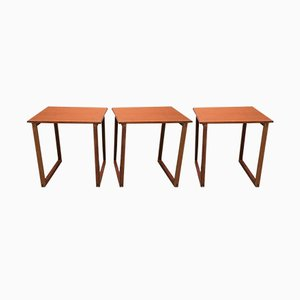 Tables Gigognes Scandinaves en Teck, 1950s