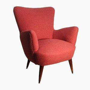 Italienischer Mid-Century Sessel in Rosa, 1950er