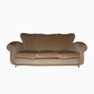 Mid-Century Beige Sofa, 1940s