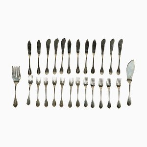 Vintage Italian Silver Cutlery Set
