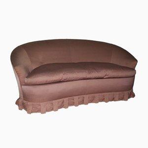 Mid-Century Italian Pink Sofa, 1950s