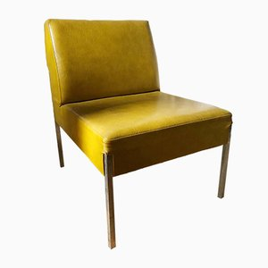 Mid-Century Vinyl Lounge Chair, 1950s