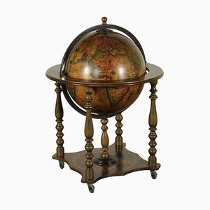 Italienischer Vintage Globus aus Buche