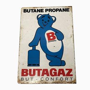 Emailliertes Butane Propane Gas Wandschild, 1950er