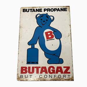 Propane Gas and Enamel Exterior Wall Sign, 1950s